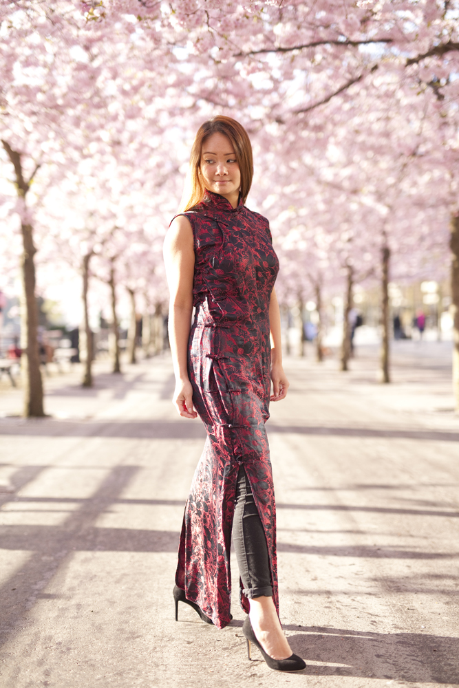 Mulan themed shoot in Stockholm with Cherry Blossoms